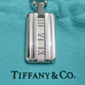 Tiffany & Co. 925 Atlas Dog Tag Necklace